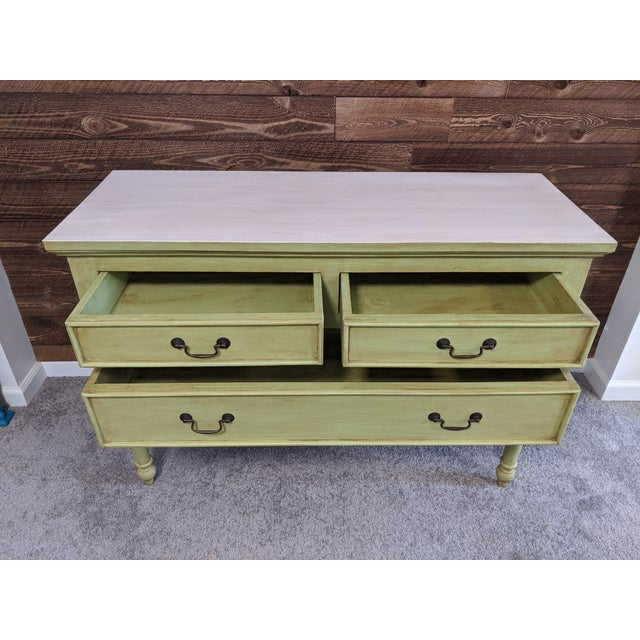 1950s Mid Century Green Chest With Drawers For Sale - Image 12 of 13
