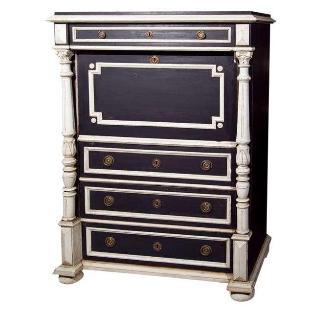 Swedish Gustavian Style Secretary Drop-Front Desk For Sale
