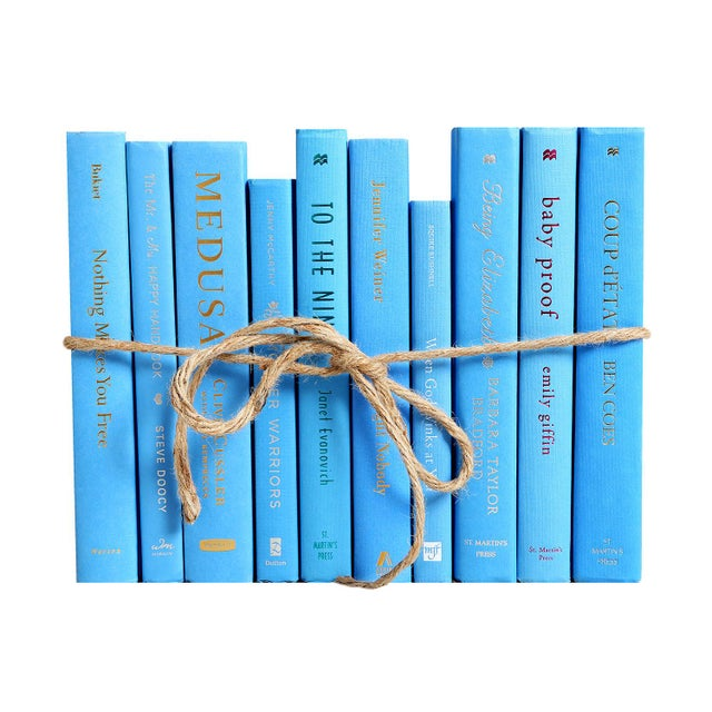 Modern Modern Sky ColorPak - Decorative Books in Shades of Light Blue For Sale - Image 3 of 3