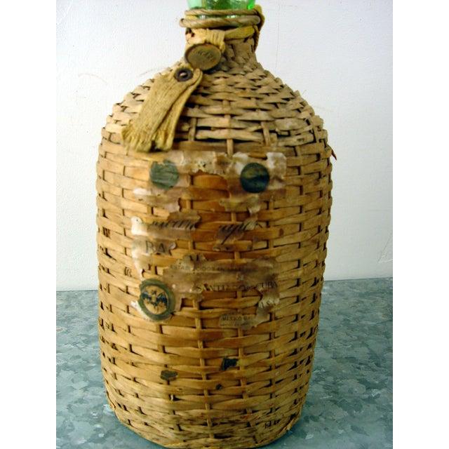 Vintage Bacardi Rum Wicker Covered Bottle - Image 3 of 5