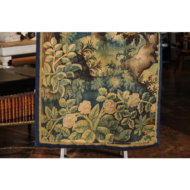 Pair of 19th Century French Handmade Vertical Tapestries with Pastoral Scenes For Sale In Atlanta - Image 6 of 12