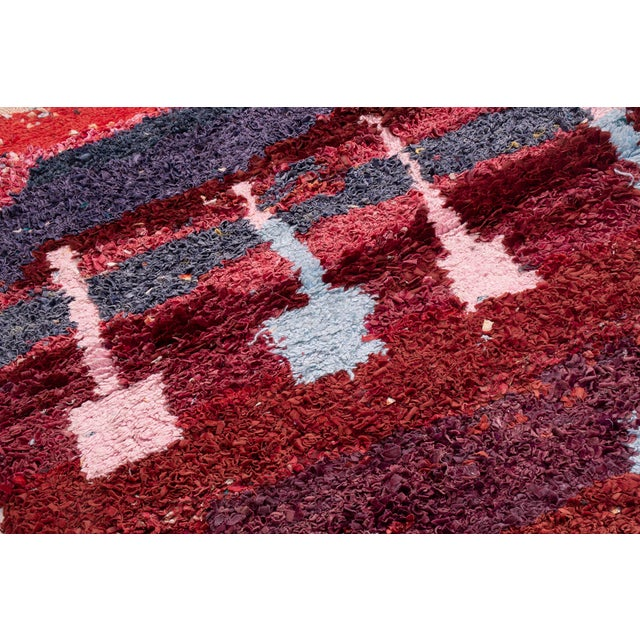 Contemporary Moroccan Geometric Rug - 4′ × 4′10″ For Sale - Image 4 of 6