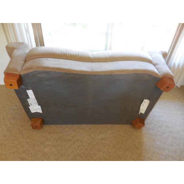 Natuzzi Florence Suede Loveseat For Sale - Image 5 of 5