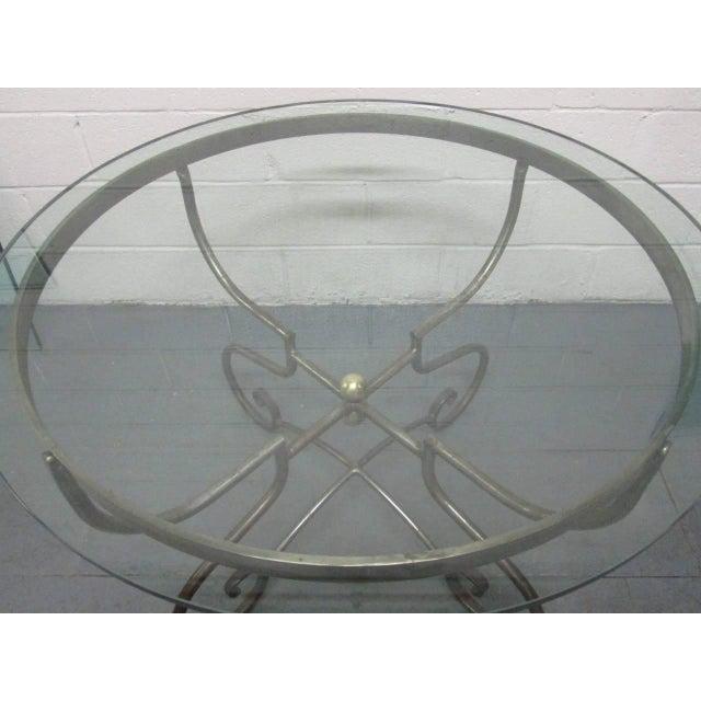Bronze Italian Iron Centre Table Stlye of Alberto Orlandi For Sale - Image 7 of 7