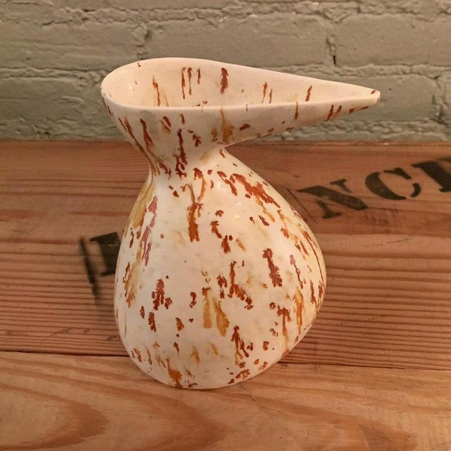 Abstract 1960s Mid-Century Modern Art Pottery Decanter Vase For Sale - Image 3 of 7