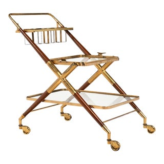 Italian Vintage Bar Cart by Cesare Lacca For Sale