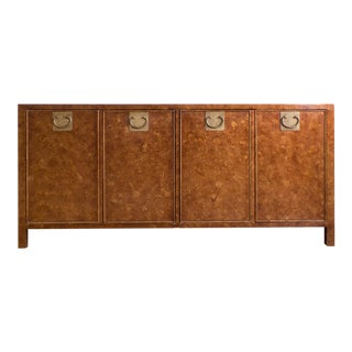 Tortoise Shell Sideboard Credenza Buffet | Asian Hollywood Regency Mid Century