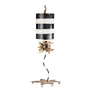 Dominique Table Lamp, Black and White For Sale