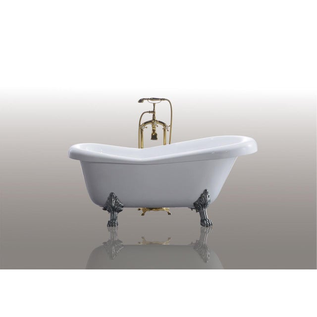 modern mariah acrylic clawfoot bathtub tub for sale image 3 of 8 - Acrylic Clawfoot Tub