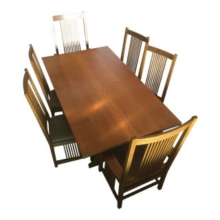 Stickley Mission Collection Keyhole Trestle Dining Set