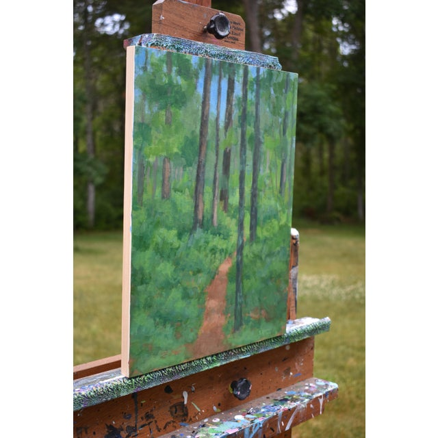 """""""Back Yard Path"""", Contemporary Painting by Stephen Remick For Sale In Providence - Image 6 of 9"""