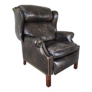 Hancock & Moore Brown Leather Recliner Lounge Chair