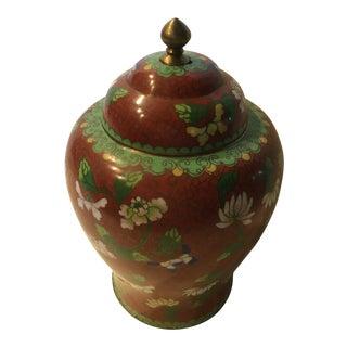 Vintage Chinese Metal Jar For Sale