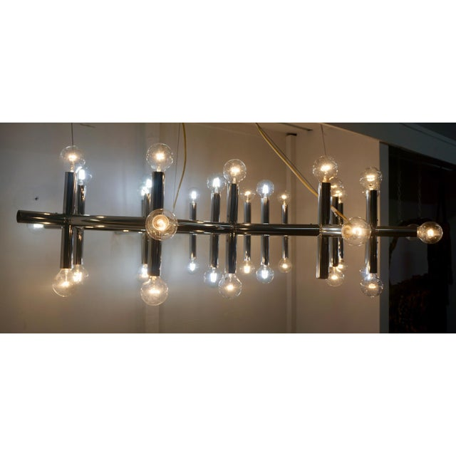 Mid-Century Chrome Light Fixture by Robert Haussmann For Sale In Palm Springs - Image 6 of 6