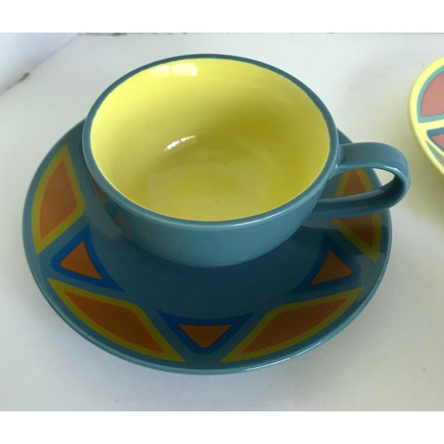 Mid-Century Modern Vintage Germany Picasso Mug and Plate - Service for 3 For Sale - Image 3 of 8