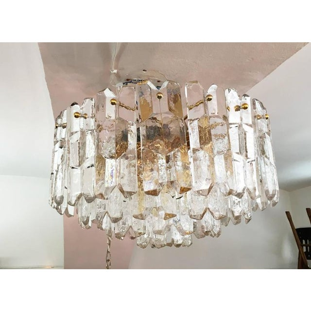 Large Palazzo Frosted Glass Chandelier by JT Kalmar, 1970s For Sale - Image 11 of 11