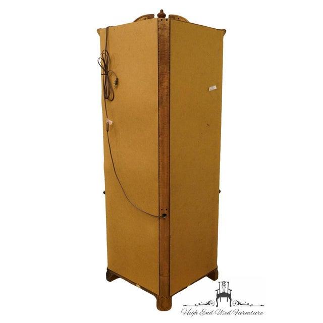 Wood Pulaski Furniture Cherry Illuminated Corner Display Curio Cabinet For Sale - Image 7 of 9