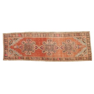 Vintage Distressed Oushak Rug Runner - 3' X 9' For Sale