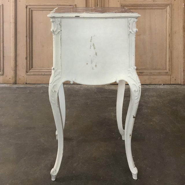 19th Century French Louis XV Painted Nightstand For Sale - Image 12 of 13