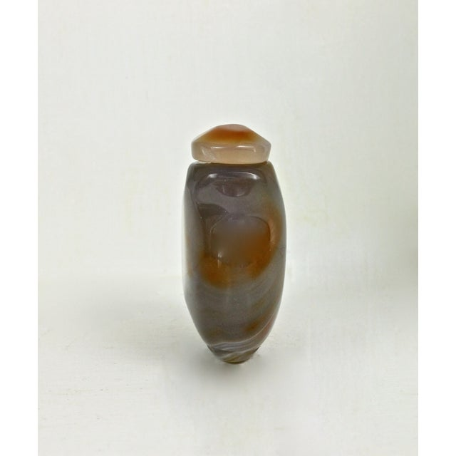 Polished Yellow Agate Snuff Bottle - Image 4 of 4