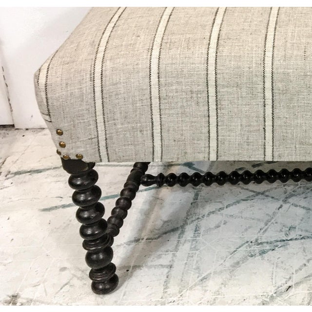 19th C. Antique French Spool Settee - Image 8 of 8