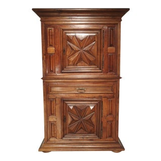 Louis XIII Style Diamond Point Homme Debout Cabinet From France For Sale