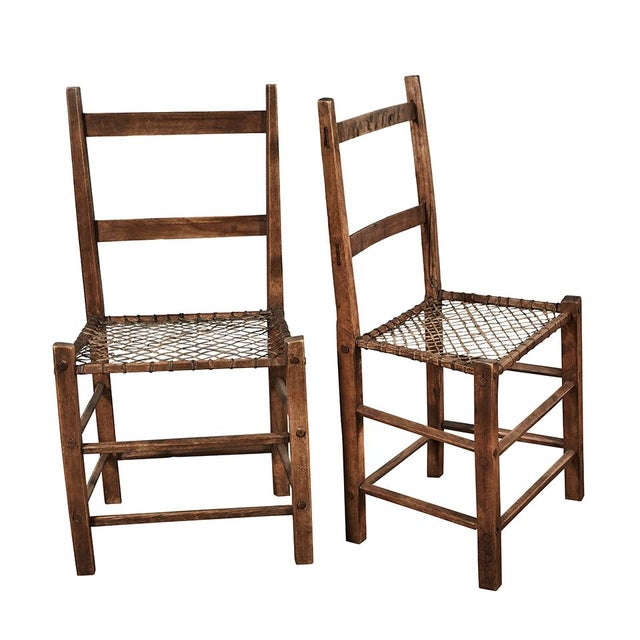 Brown Pair of Camp Chairs For Sale - Image 8 of 8