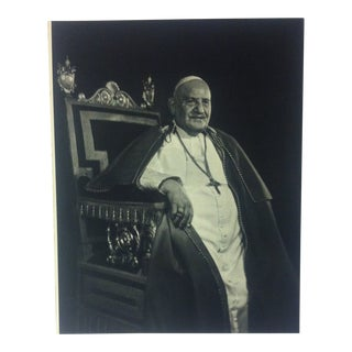 "Black & White Print on Paper, ""His Holiness - Pope John Xxiii"" by Yousuf Karsh, 1967 For Sale"