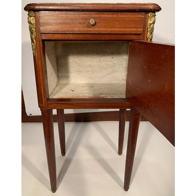 Antique French Bedside Cabinet For Sale - Image 4 of 9