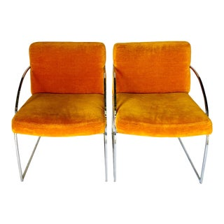 Vintage Mid Century Milo Baughman for Thayer Coggin Chairs- A Pair For Sale