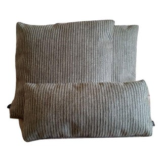 Holly Hunt Breakers Stripe Pillow Covers - Set of 3 For Sale