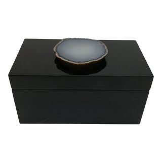 Geo Handle Lacquered Box For Sale