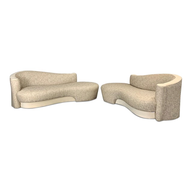 Vintage Weiman Sculptural Cloud Sofas- a Pair For Sale - Image 10 of 10