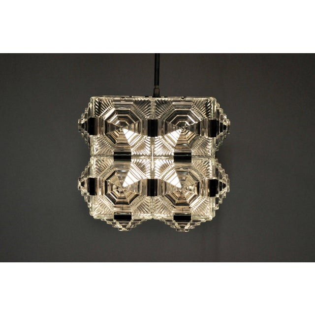 Czech Cast Glass Ceiling Lamp For Sale - Image 11 of 13