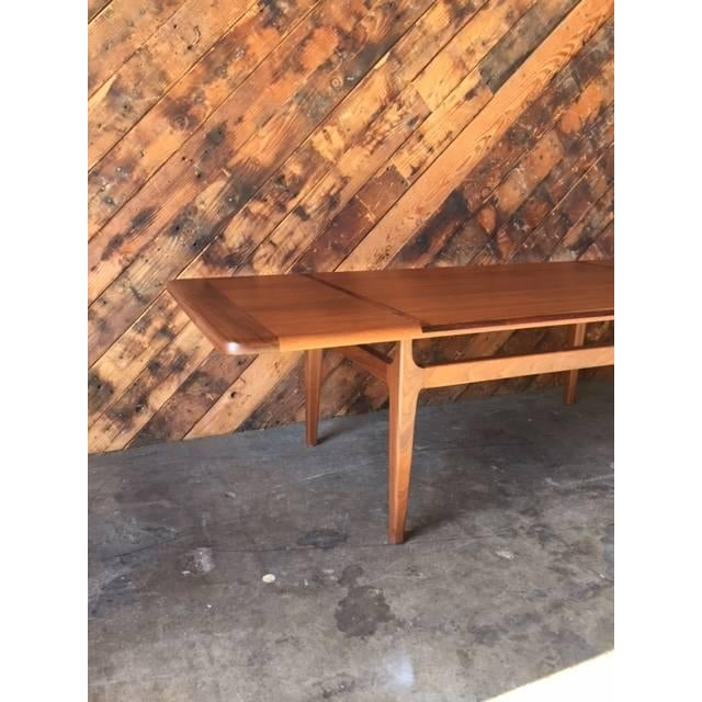 Mid-Century Danish Walnut Rosewood Coffee Table - Image 4 of 6