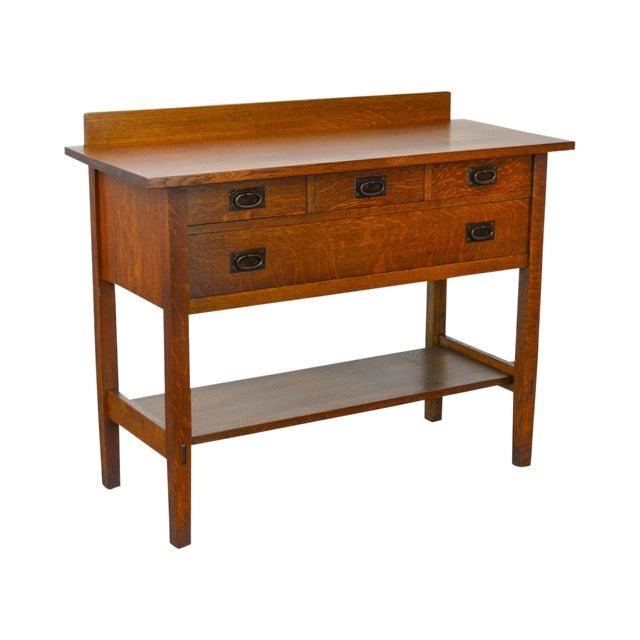 Gustav Stickley #819 Antique Mission Oak 4 Drawer Server For Sale