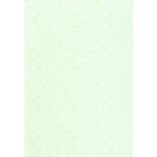 Sample - Schumacher Willow Leaf Wallpaper in Aqua For Sale