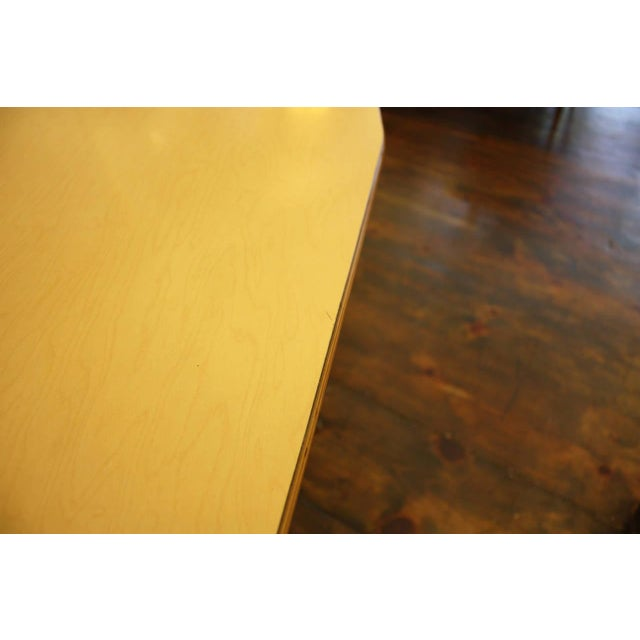1950s French Laminated Plywood and Steel Adjustable Table - Image 10 of 10