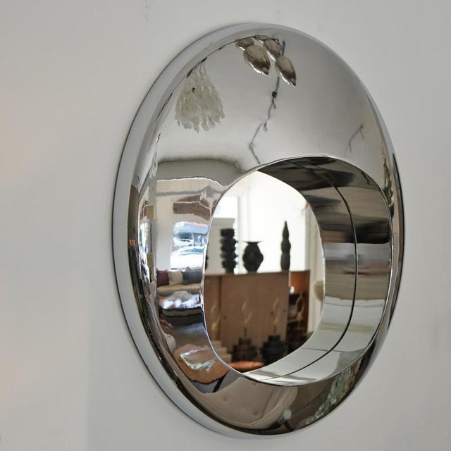 Mid-Century Modern 1970s Chrome Orb Mirror For Sale - Image 3 of 6