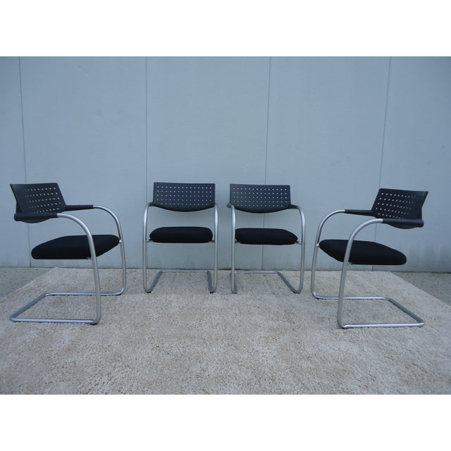Modern Antonio Citterio for Vitra Visasoft Visavis Guest and Conference Chairs- Set of 6 For Sale In New York - Image 6 of 13