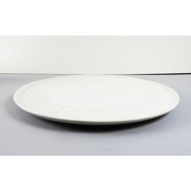 Contemporary White Porcelain Serving Plate For Sale - Image 3 of 4