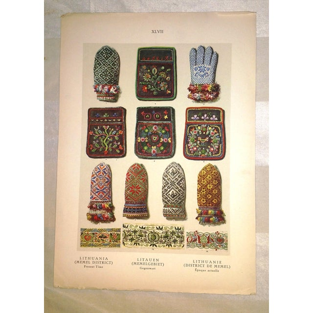 Early 20th Century Eastern European Embroidery Prints - A Pair - Image 3 of 4