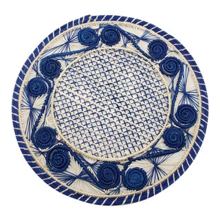 All Cream Iraca Fibre Placemat, Colombia For Sale
