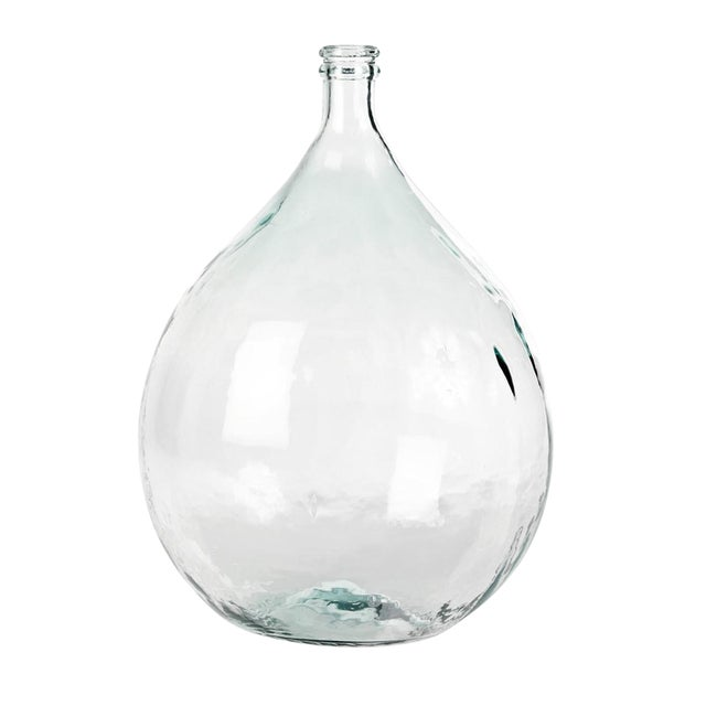 Vintage Style Clear Glass Bottle - Image 1 of 2