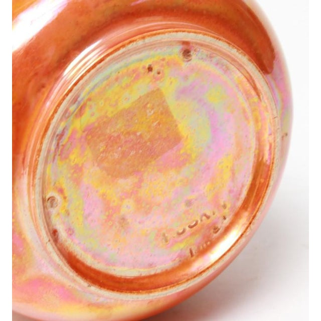 Arts & Crafts Ruskin English Orange Lustre Pottery Vase For Sale - Image 3 of 4