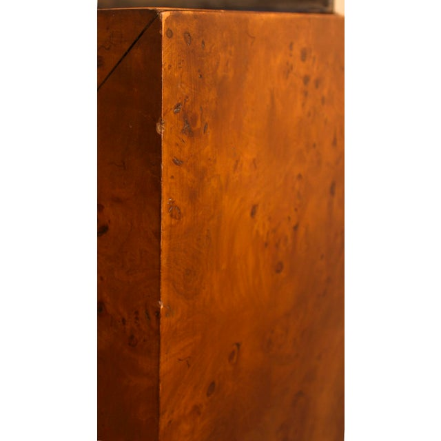 Brown Mid-Century Modern Milo Baughman Burl Wood Console Table For Sale - Image 8 of 10