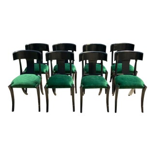 Mid Century Style Klismos Dining Chairs - Set of 8 For Sale