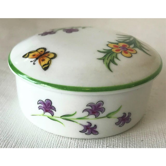Ceramic Tiffany & Co. Limoges Hand Painted Porcelain Trinket Box For Sale - Image 7 of 9