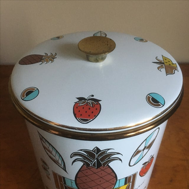 Vintage Georges Briard Mid-Century Cookie Canister - Image 4 of 7