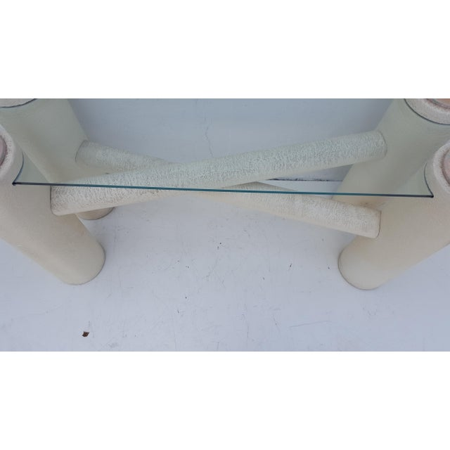 Vintage Sculptural -X- Form Base Console Table For Sale - Image 5 of 9